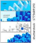 vector layout of headers ... | Shutterstock .eps vector #1775689193