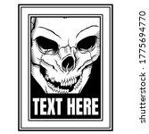vector skull head smirking... | Shutterstock .eps vector #1775694770