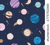 seamless pattern with astrology ...   Shutterstock .eps vector #1775702000