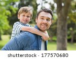 side view portrait of a father... | Shutterstock . vector #177570680