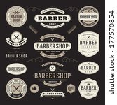 barber shop vintage retro... | Shutterstock .eps vector #177570854