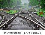 Railway Tracks On A Rainy Day...