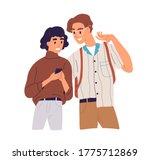 happy couple look at screen of... | Shutterstock .eps vector #1775712869