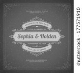 wedding invitation card... | Shutterstock .eps vector #177571910