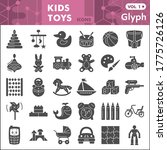 kids toys solid icon set ... | Shutterstock .eps vector #1775726126