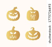 halloween golden pumpkin... | Shutterstock .eps vector #1775726693