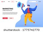 marketing flat landing page...
