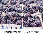 Boxes Of Organic Blackberries...