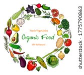 ripe  fresh vegetables with...   Shutterstock .eps vector #1775790863