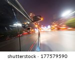 car on the road with motion... | Shutterstock . vector #177579590
