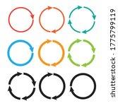 arrow pictogram refresh. reload ...   Shutterstock .eps vector #1775799119
