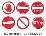 Stop No Entry Road Sign Icon...