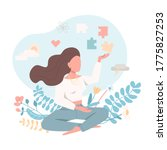 psychologically healthy female... | Shutterstock .eps vector #1775827253