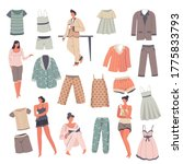 sleepwear for men or women ... | Shutterstock .eps vector #1775833793