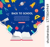 open book  back to school... | Shutterstock .eps vector #1775834969