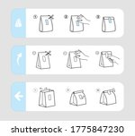 reusable closing packing guide... | Shutterstock .eps vector #1775847230