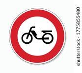 traffic sign forbidden entrance ... | Shutterstock .eps vector #1775855480