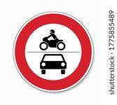 traffic sign forbidden entrance ... | Shutterstock .eps vector #1775855489