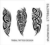 tribal tattoo design sleeve ... | Shutterstock .eps vector #1775860793