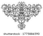 vintage baroque floral frame... | Shutterstock .eps vector #1775886590