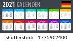 2021 calendar   vector template ... | Shutterstock .eps vector #1775902400
