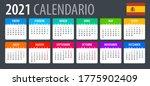 2021 calendar   vector template ... | Shutterstock .eps vector #1775902409