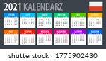 2021 calendar   vector template ... | Shutterstock .eps vector #1775902430