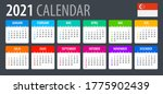 2021 calendar   vector template ... | Shutterstock .eps vector #1775902439