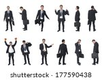 set of business people isolated ... | Shutterstock . vector #177590438