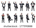 set of business people isolated ... | Shutterstock . vector #177590888