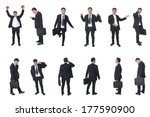 set of business people isolated ... | Shutterstock . vector #177590900