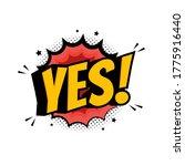 word yes in retro comic speech... | Shutterstock .eps vector #1775916440