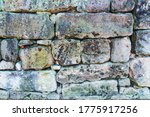 Hewn Stone Wall As Background