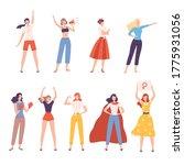 strong girls set  women... | Shutterstock .eps vector #1775931056