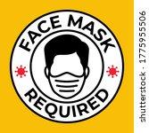 mask required  gas hazard  ware ... | Shutterstock .eps vector #1775955506