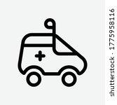 ambulance line icon   vector...   Shutterstock .eps vector #1775958116