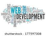 word cloud with web development ... | Shutterstock . vector #177597308