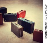 Group Of Vintage Suitcase On...