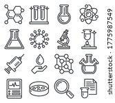 chemistry icons set on white... | Shutterstock .eps vector #1775987549