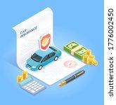 car insurance services.... | Shutterstock .eps vector #1776002450