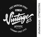 """""""vintage 85. new york"""". ...   Shutterstock .eps vector #1776010586"""