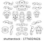 set of decorative elements for... | Shutterstock .eps vector #1776024626