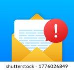 alert message laptop... | Shutterstock .eps vector #1776026849
