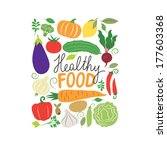 vector vegetables illustration | Shutterstock .eps vector #177603368