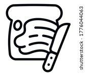 knife peanut butter icon....   Shutterstock .eps vector #1776044063