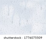 realistic water droplets on the ... | Shutterstock .eps vector #1776075509