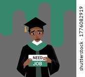 african american man wearing... | Shutterstock .eps vector #1776082919