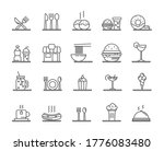food courts icons set. outline... | Shutterstock .eps vector #1776083480