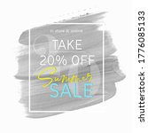 summer sale 20  off sign over... | Shutterstock .eps vector #1776085133