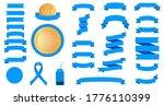 set of blue ribbons for design  ... | Shutterstock .eps vector #1776110399
